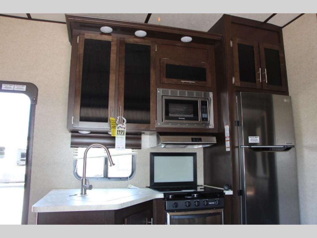 Forest River Arctic Wolf Fifth Wheel Kitchen